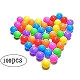 Brajttt 100pcs Colorful Ball Fun Ball Soft Plastic Ocean Ball Baby Kid Toy Swim Pit Toy