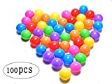 Brajttt 100pcs Colorful Ball Fun Ball Soft Plastic Ocean...
