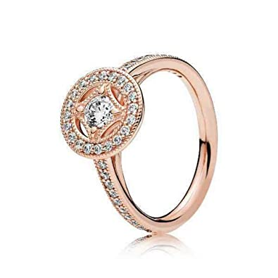 7fafe83b9 Amazon.com: Pandora Rose Vintage Allure Ring Size 7 With Clear CZ ...