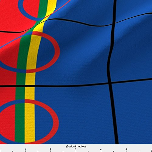 Sam Fleece (Sami People Flag Fabric Sami Peoples Flag by Odinist Printed on Fleece Fabric by the Yard by Spoonflower)