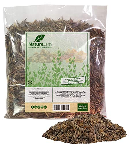 Hand Harvested Wild Rice 1 Pound-From Minnesota Lakes & River - Wild Minnesota Rice