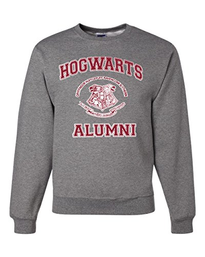 Hogwarts Alumni Harry Potter Unisex Crewneck Sweatshirt ( Heather Grey , Small ) ()
