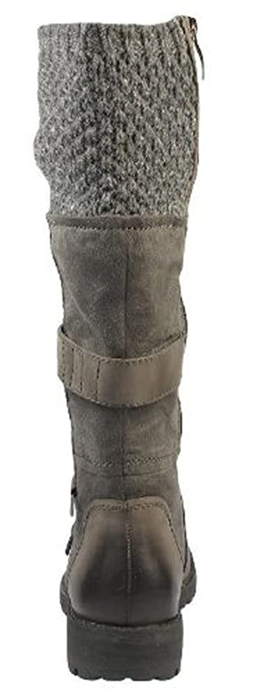 Tamaris Gestrickter Kragen Kragen Kragen Stiefel Leder warm Pelz gefüttert RRP £ ( 973808
