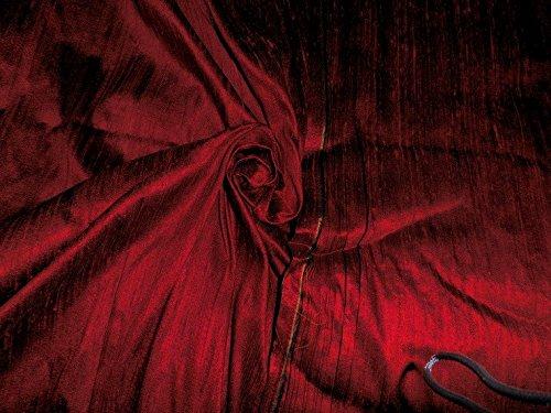 - 100% Pure Silk Dupioni Fabric Wine Black 54