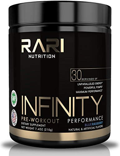 RARI Nutrition - INFINITY 100% Natural Pre Workout Powder for Energy, Focus, and Performance - No Creatine – No Artificial Flavors or Colors - 30 Servings - Blue Raspberry