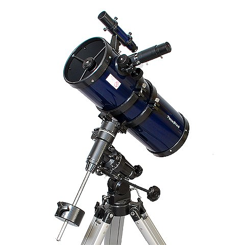 Blue AstroVenture 6'' Short Tube Reflector Telescope with Digital USB Camera