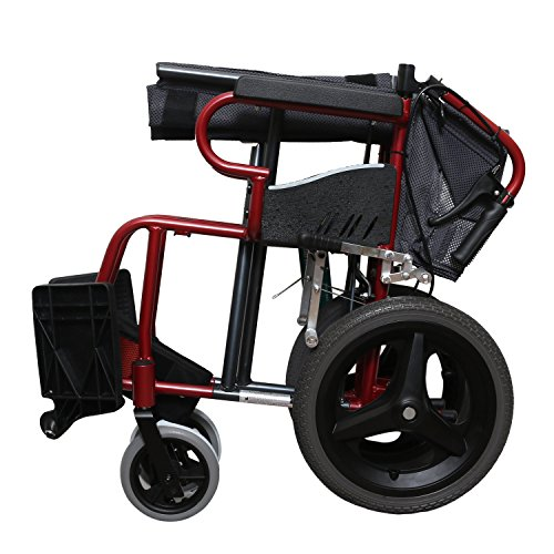 KHL Ultra Light and Easy To Carry Wheelchair (Black and Red)
