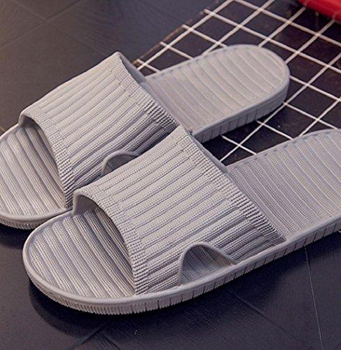 Sagton Summer Hombres Sandalias Antideslizantes Indoor Outdoor Open Toe Flats Inicio Sandy Beach Slippers Gray