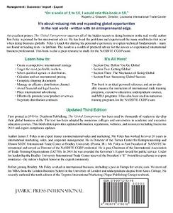 The Global Entrepreneur 3rd Edition by Jamric Press International