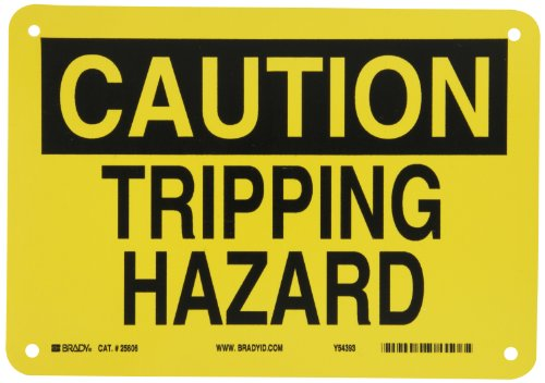 (Brady 25606 Plastic Fall Protection Sign, 7