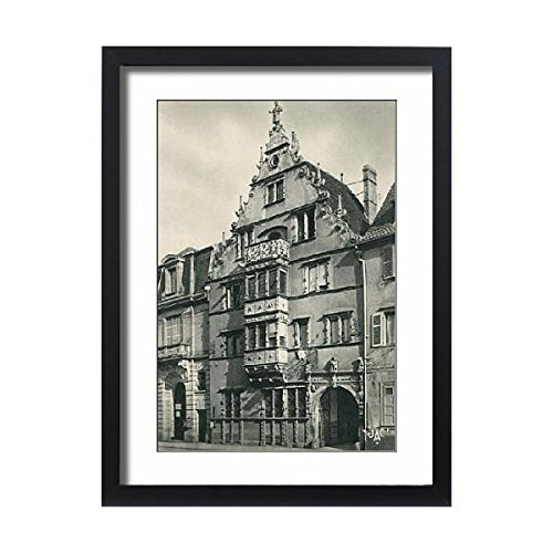 Framed 24x18 Print of Colmar, France - La Maison des Tetes in the old town (14379295) (Wall Collection Bracket Renaissance)