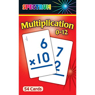 Multiplication 0-12 Flash Cards: Spectrum: Office Products