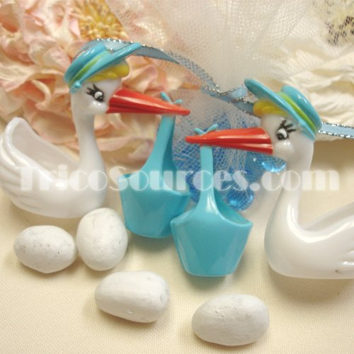 (Party Favor Supply Baby Shower Favor Stork Figurine Party Deocoration 2