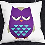 HandyCase New Fashion Hot Selling Pillowcases Cartoon Cute Owls Cotton Linen Pillow Case Home Hidden Zip Product For Gift 18Inches x 18Inches - Pattern 2