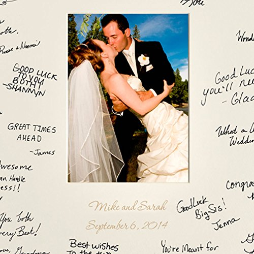 """Wedding Signature Mat Guest Book (Personalized Guest Book Frame (Black)(18 ½"""" by 22 ½""""))"""