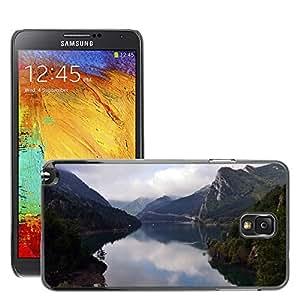 Etui Housse Coque de Protection Cover Rigide pour // M00150829 Lago Paisaje Mountain Sky // Samsung Galaxy Note 3 III N9000 N9002 N9005