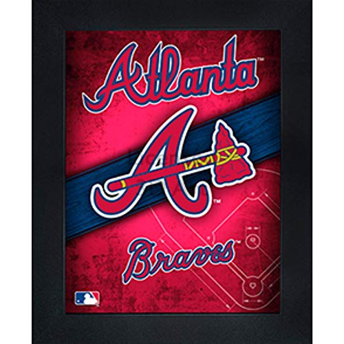 Atlanta Braves 3D Poster Wall Art Decor Framed Print | 14.5x18.5 | Lenticular Posters & Pictures | Memorabilia Gifts for Guys & Girls Bedroom | MLB Baseball Sports Team Fan Poster for Man Cave