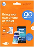 AT&T MicroSim Starter Kit Plus 2FF/3FF Adapter for GoPhone Devices (No Annual Contract)