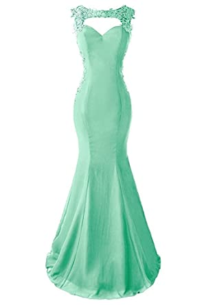 Vkissdress Womens Strapless Rhinestone Crystal Bridesmaids Floor-length Evening Dresses Prom Gown Mint 10