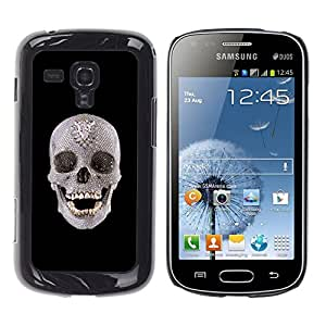 Impact Case Cover with Art Pattern Designs FOR Samsung Galaxy S Duos S7562 Skull Crystal Ancient Art Archeology Head Teeth Betty shop