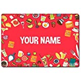 Nutcase Personalized Dinner Table Mats For Kids with lifelong non fading print design - Single Piece - Hand Washable Poly Premium Fabric Cloth Placemats With reversible Print Size 16 inches x 12 inches