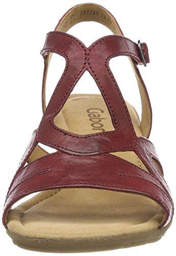 Cinturino Casual Donna alla Caviglia con Gabor red Sandali Rosso Dark COZPwq