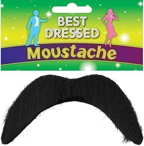 70s Outfits For Men - B&S Trendz Mens Stick On 1970S 118 118 Mario Luigi Mexican 60S Moustache Fancy Dress Costume Outfit Accessory