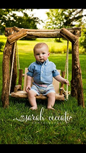 The ORIGINAL NEW Rustic Baby Photography Swing, Wooden Photo Prop Swing, Photography Prop by From The Coast 2 The City