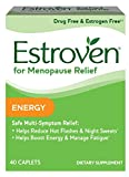 Estroven Energy | Menopause Relief Dietary Supplement | Safe Multi-Symptom Relief | Helps Reduce Hot Flashes & Night Sweats* | Helps Boost Energy & Manage Fatigue* | 40 Caplets (pack of 2)