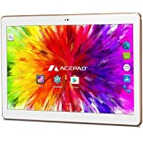 "ACEPAD A101 (10.1"") Tablet PC 3G (Dual-SIM) 48GB Android 7.0 Nougat IPS HD 1280x800 Quad Core - WIFI WLAN USB SD (Weiß)"