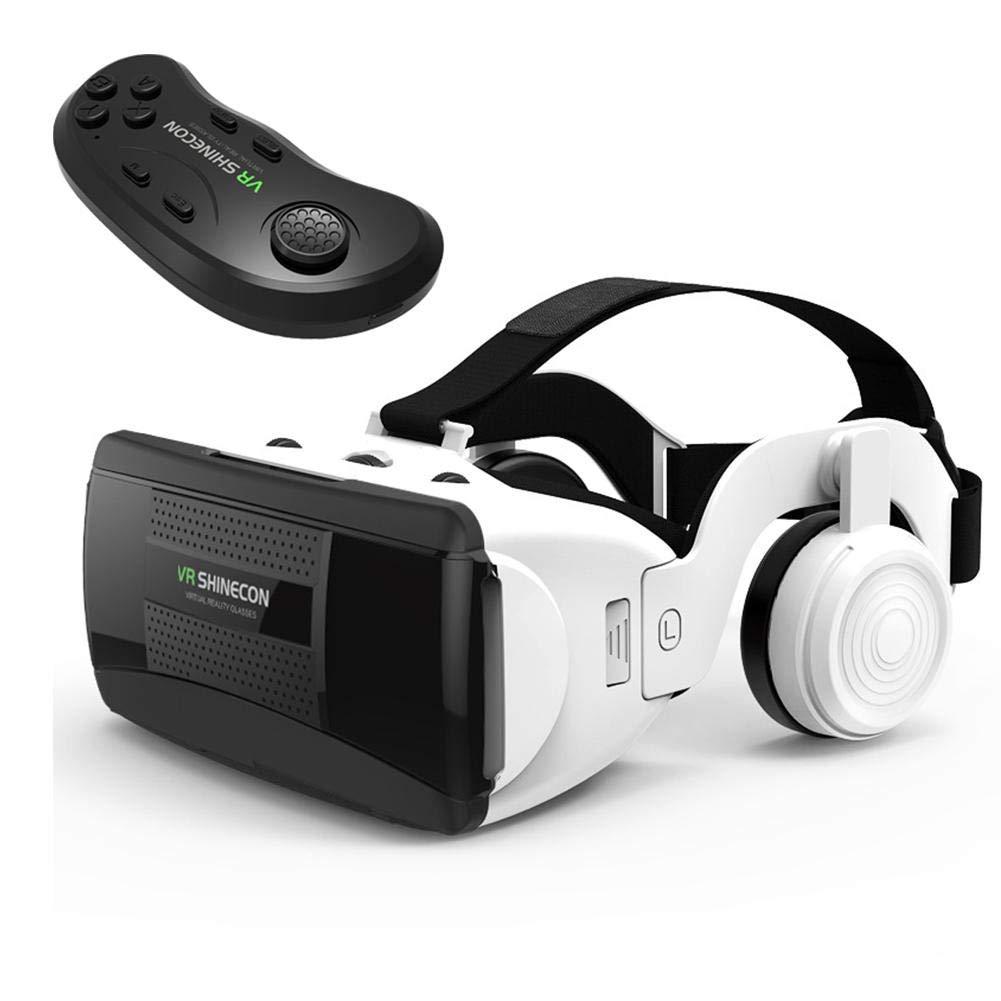 6//6 Plus Xuanyang Ensemble de Lunettes VR Lunettes de r/éalit/é virtuelle avec Casque HiFi 3DVR avec poign/ée Bluetooth pour iPhone X 8 7 Plus 6s