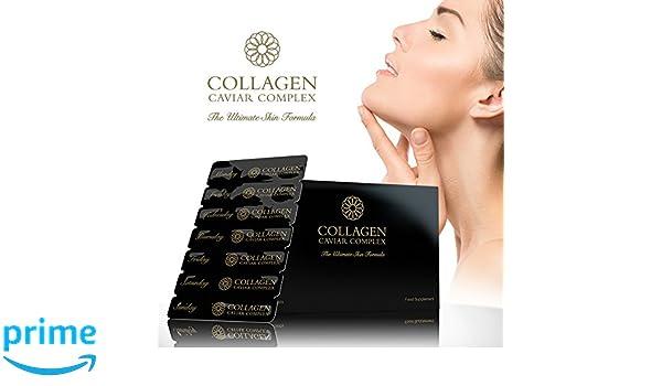Premium Colágeno (1000mg) , CAVIAR (1400mg) Complejo - Cuidado de piel NUTRICIÓN - Por Tom Oliver Nutrition: Amazon.es: Salud y cuidado personal
