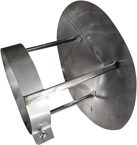 LXLTL Chapeau De Chemin/ée Pare Pluie INOX Chapeau De Protection Contre La Pluie Et La Neige Installation Facile Cerceau Ajustable,50mm