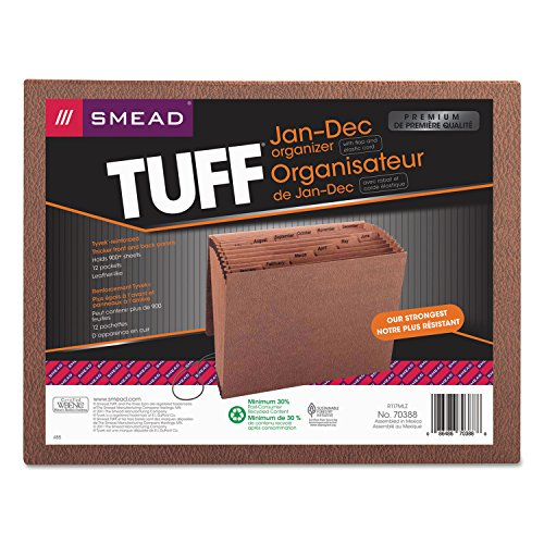 SMD70388 - Smead 70388 Leather-Like TUFF Expanding Files with Flap and Elastic -