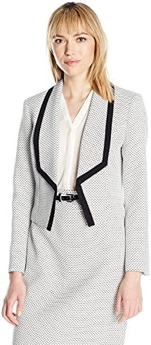 Nine West Womens Suits Tweed Shawl Collar Kiss Front Jacket Pick SZ//Color.