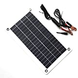 TOOGOO 10W 18V 12V Portable Solar Panel Charger with DC 5521 Cable For 12V Car Boat Motor Battery Charger
