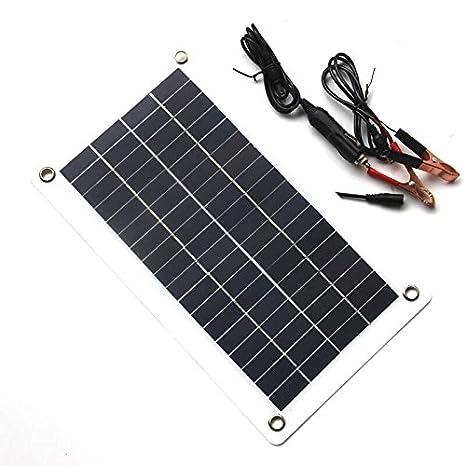TOOGOO 10W 18V 12V Cargador de Panel Solar portatil con DC ...
