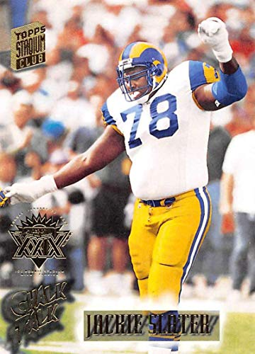 1994 Stadium Club Super Teams Super Bowl Football #373 Jackie Slater Los Angeles Rams CT Official NFL Trading Card From Topps