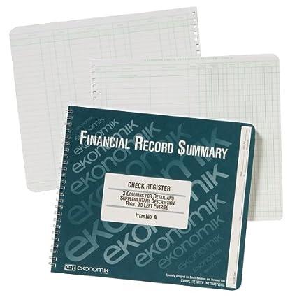 amazon com ekonomik check deposit register ekoa checkbook