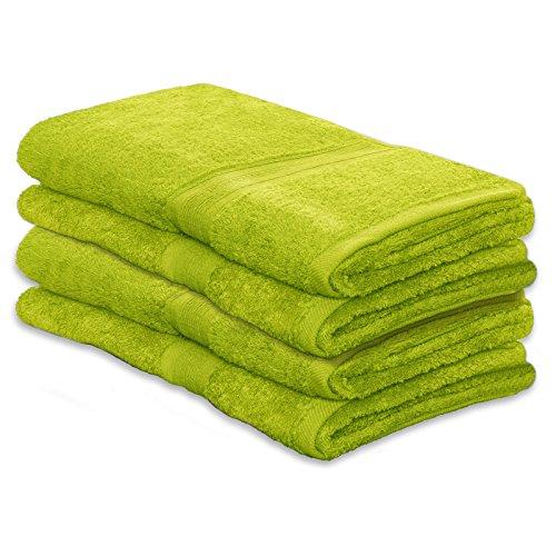 4 tlg. Set Gästetücher MAGIC SOFT | ÖKO TEX Standard 100 | Premium-Qualität ca. 550g /m2 | 30x50 cm | verschiedene Farben | grün