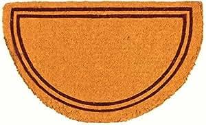 "Coco Mats N More Plain Double Border Half-Round Doormat 38"" x 60"" (Brown)"