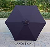 Cheap 9ft Umbrella Replacement Canopy 6 Ribs in Navy Blue Olefin (Canopy Only)