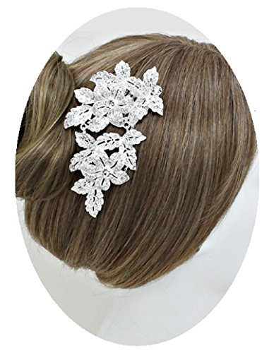 [Large Crystal Silver Hair Comb Fashion Jewelry (#101)] (Best Hollywood Costumes Designers)