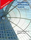 Introductory Mathematical Analysis for Business, Economics and Life and Social Sciences, Haeussler, Ernest F. and Paul, Richard P., 0130087505