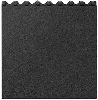"""product image for Apache Mills Cushion Modular Matting, Solid With Grit, Black, 36 x 36"""""""