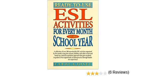 Ready-to-Use ESL Activities for Every Month of the School Year ...