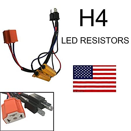 1 Pair 9006 HB4 9012 50W 6 Ohm LED Lights Load Resistor Adapter Fix