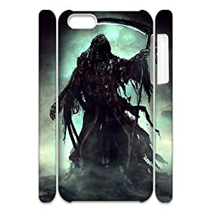 DANGDANG Grim Reaper Shell Phone for iphone5c White Cover Phone Case [Pattern-5]