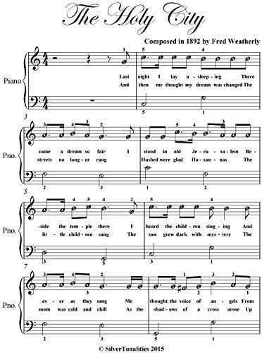 Holy City Easiest Piano Sheet Music (Easiest Piano Sheet Music)