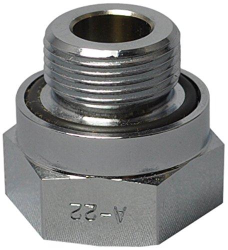 EZ (A-22) Silver 22mm-1.5 Thread Size Oil Drain Valve Adapter EZ Oil Drain Valve
